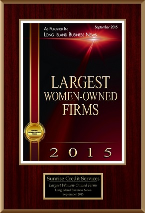 Award for being one of the largest Women Owned businesses.