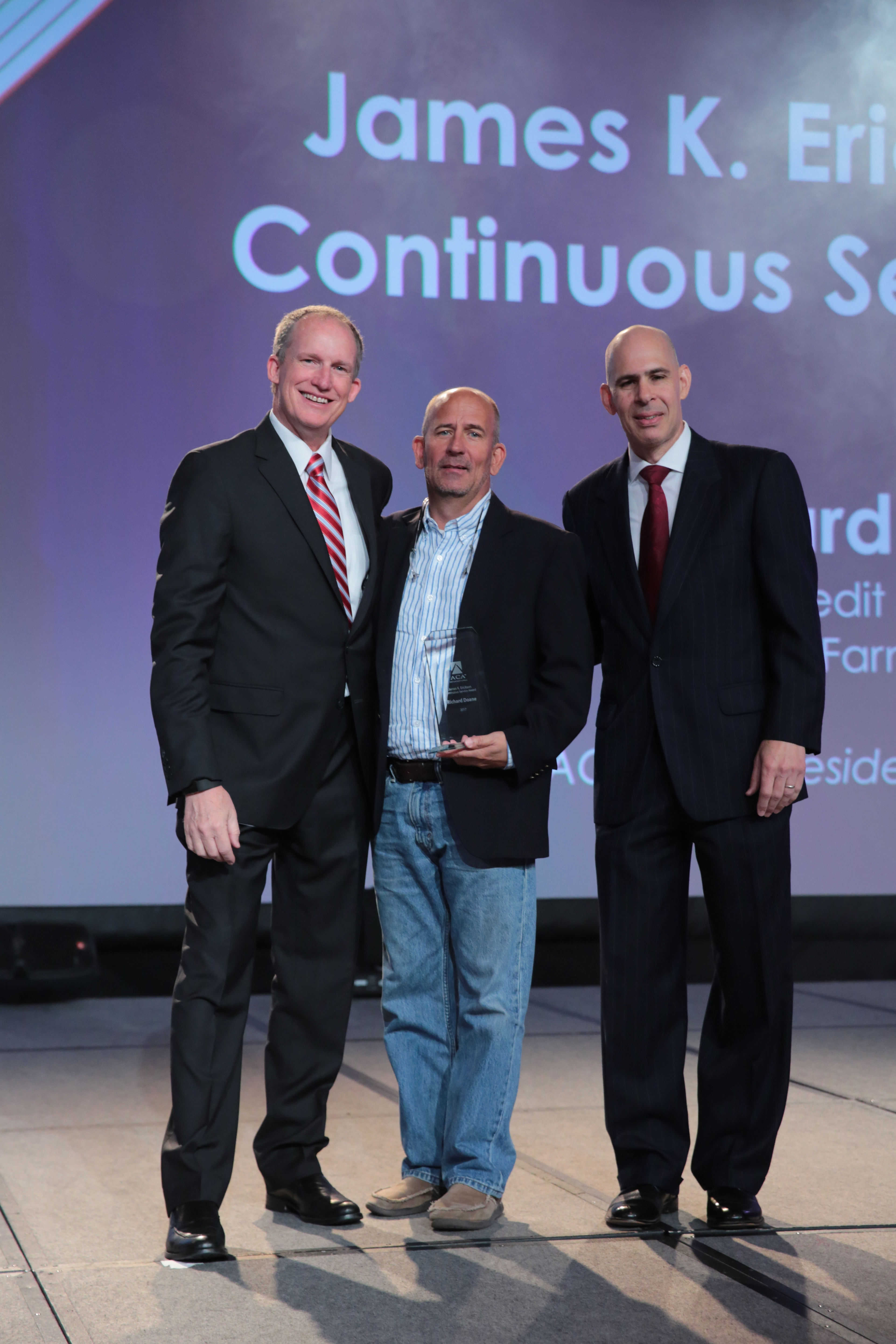 James K. Erickson Continuous Service Award